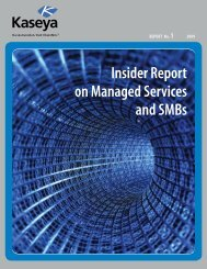 Insider Report on Managed Services and SMBs - Kaseya