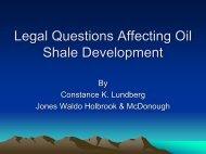 Legal Questions Affecting Oil Shale Development - Colorado Mining ...