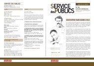 SERVICE desPUBLICS SERVICE
