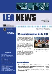 LEA NEWS Ausgabe 1/2007 - Leadership Academy