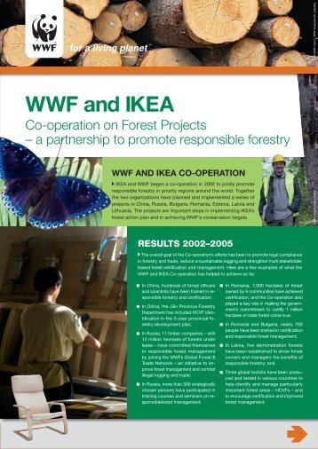 WWF and IKEA co-operation - Forest Projects - Global Hand