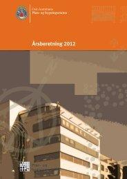 Årsberetning 2012 - Plan