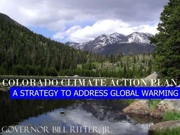 COLORADO CLIMATE ACTION PLAN - Colorado Mining Association
