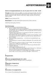 Referat af menighedsrådsmøde ons. den 19. januar 2011 kl. 19.00 ...