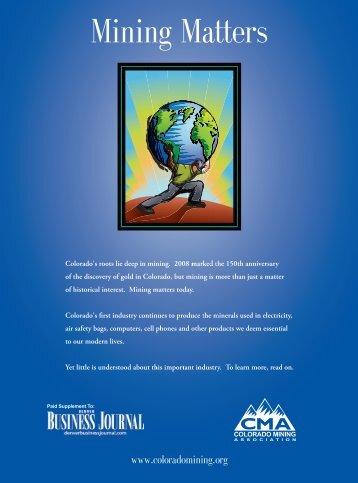 Mining Matters - Colorado Mining Association