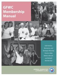GFWC Membership Manual - General Federation of Women's Clubs