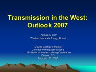 Transmission in the West - Colorado Mining Association
