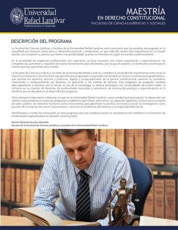 Derecho Constitucional - Universidad Rafael Landívar