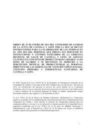 orden de 25 de enero de 2013 del consejero de sanidad de la junta ...