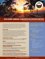 2013 GFWC AnnuAl Convention opportunities - General Federation ...