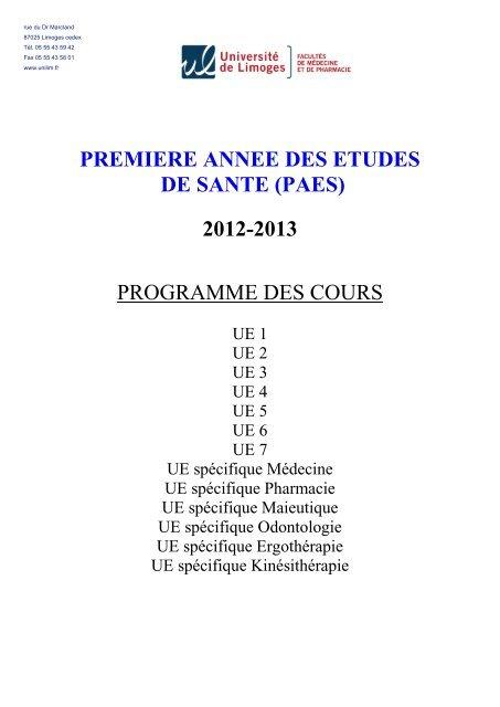 549bc4ed2 UE 1 - Faculté de Médecine de Limoges