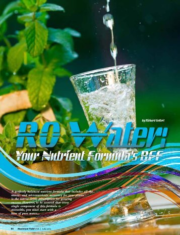 RO Water: Your Nutrient Formula's BFF - Hydro-Logic
