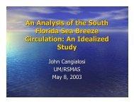 An Analysis of the South Florida Sea Breeze Circulation: An ...