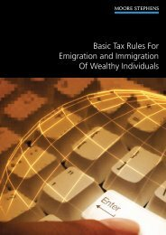 Basic tax rules for emigration and immigration of wealthy individuals
