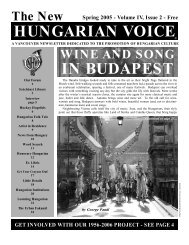 THE NEW HUNGARIAN VOICE SPRING 2005 (Read-Only)