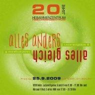 Programm (PDF 305 KB) - im Hebammenzentrum