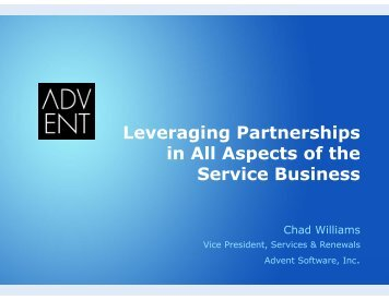 Leveraging Partnerships in All Aspects of the ... - Service Strategies