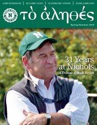 31 Years at Nichols - Nichols School