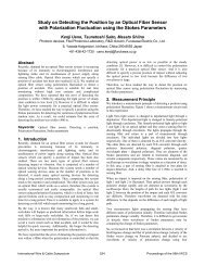 Study on Detecting the Position by an Optical Fiber Sensor with ...
