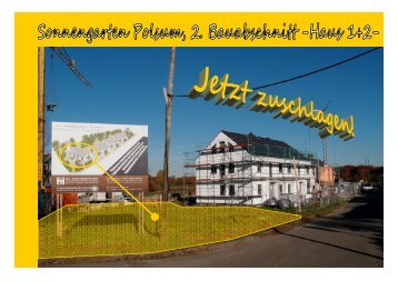 Exposé Sonnengarten Haus 1 2 - B+G Bau + Grund Immobilien GmbH