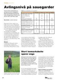 Avlingsnivå på sauegarder - Fagbladet Økologisk Landbruk