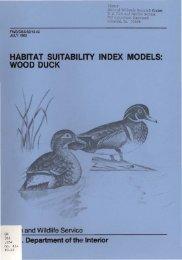 Habitat suitability index models: wood duck - USGS National ...