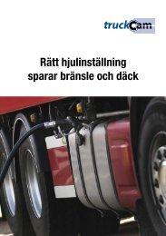 Rätt hjulinställning sparar bränsle och däck