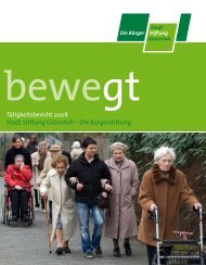 Jahresbericht Gütersloh (pdf; 1.0 MB) - Initiative Bürgerstiftungen