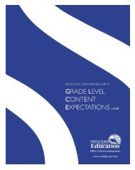 Grade Level Content Expectations - English ... - State of Michigan