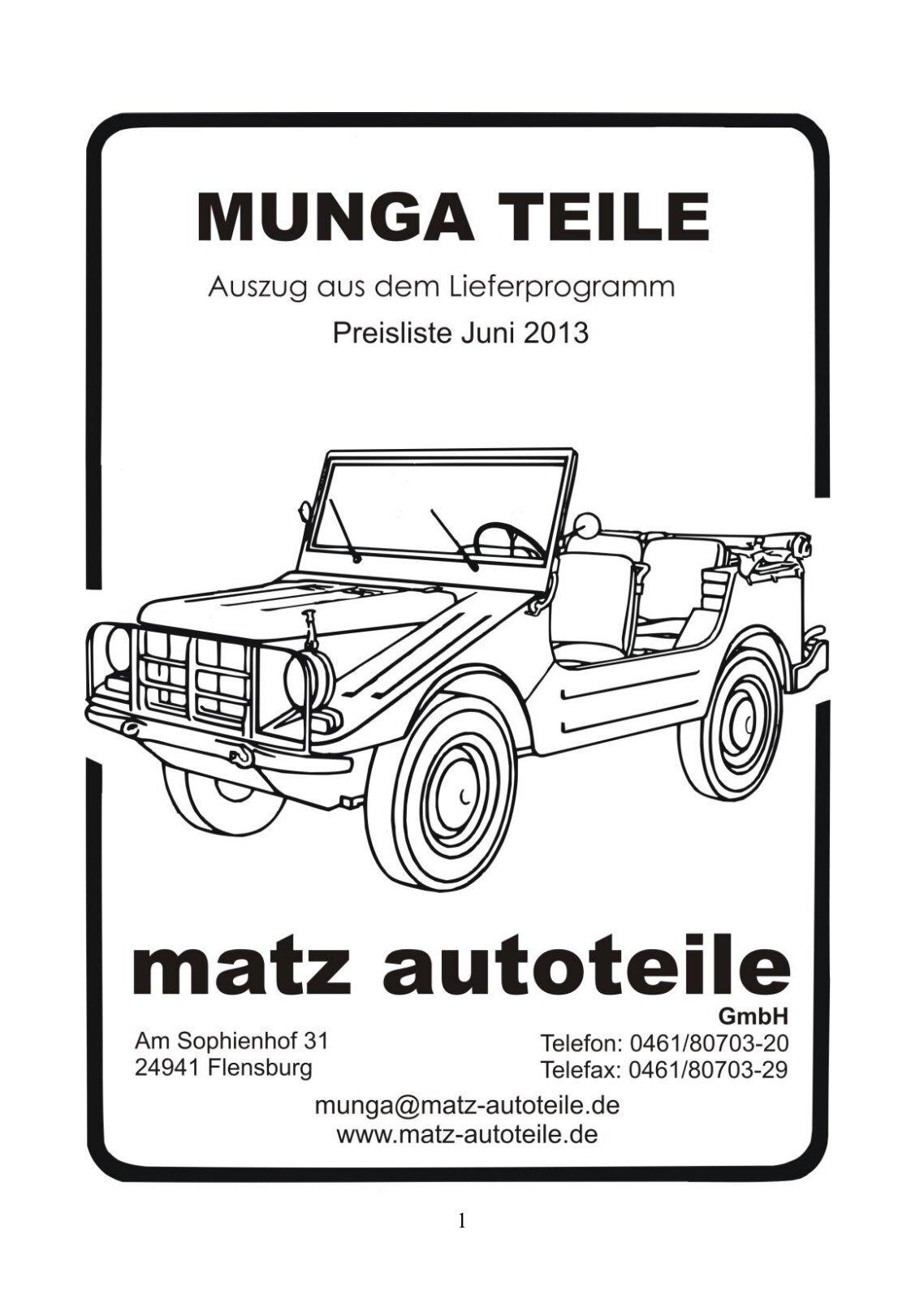 10 free Magazines from MATZ.AUTOTEILE.DE