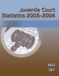 Juvenile Court Statistics 2003-2004 - National Criminal Justice ...