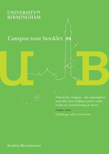 self-guided tour brochure - University of Birmingham