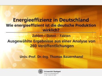 Energieeffizienz in Deutschland