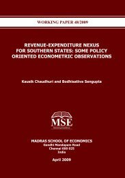 Revenue-Expenditure Nexus for Southern States - Madras School of ...