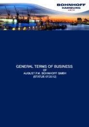 General Terms of Business - Bohnhoff GmbH ...