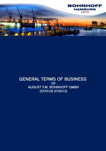 General Terms of Business - Bohnhoff GmbH ...