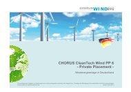 finden Sie die Kurzpräsentation des Chorus CleanTech Wind PP6 ...