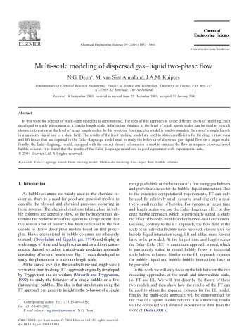 Multi-scale modeling of dispersed gas–liquid two-phase ow - FCRE