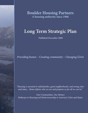 BHP Strategic Plan.indd - Boulder Housing Partners