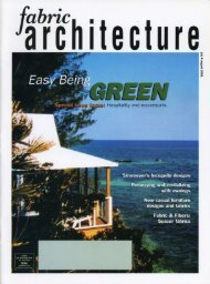 Fabric Architecture July/August 2001 - Huntington Design ...