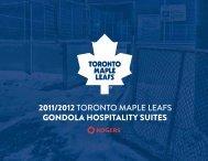 2011/2012 toronto maple leafs gondola hospitality suites