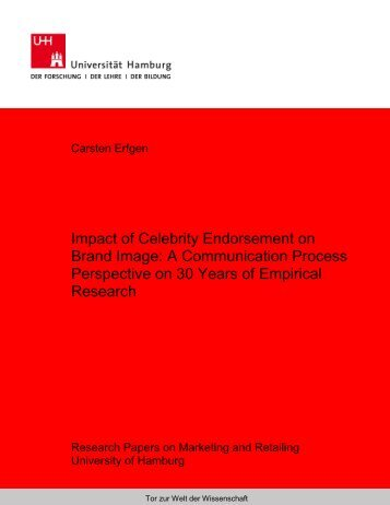 Impact of Celebrity Endorsement on Brand Image: A Communication ...