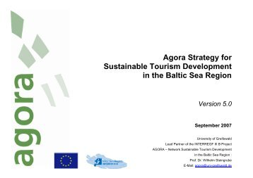 Agora Strategy for Sustainable Tourism Development in the Baltic ...