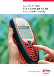 Leica GS20 PDM GPS Empfänger für die GIS Datenerfassung