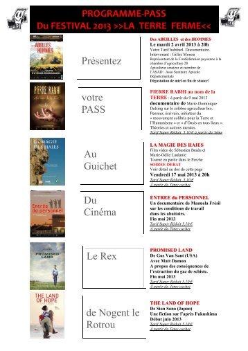 TERRE FERME festival 2013 avril & mai PASS ... - Nogent-le-Rotrou