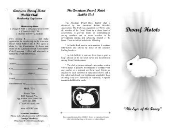 DH Brochure 2006 - the American Dwarf Hotot Rabbit Club