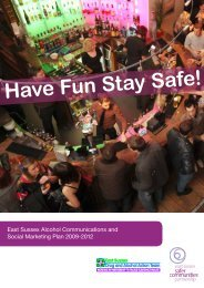 East Sussex Alcohol Communications and Social Marketing Plan
