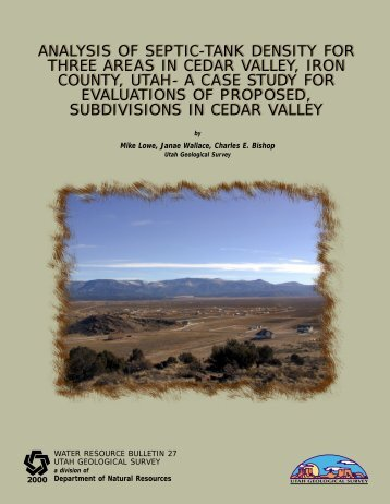 analysis of septic-tank density for three areas in cedar valley, iron ...