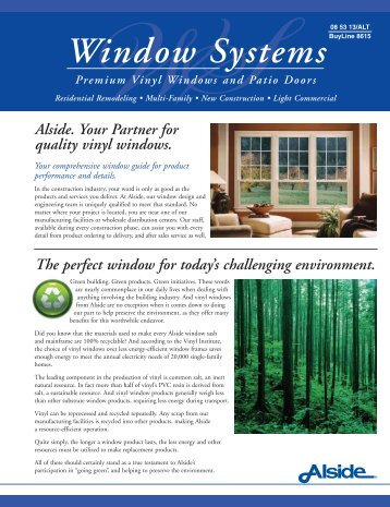 Window Systems - Home Doors & Windows