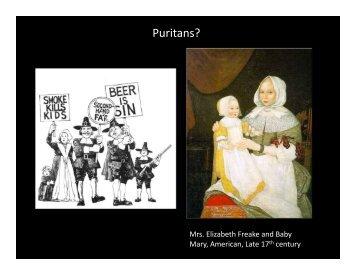 Puritans? - aml4213rags2riches